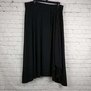 Chico's Black Knit Skirt Asymmetrical Size 2